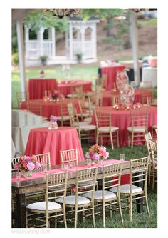 wedding tablescapes coral- love  coral and gold together!
