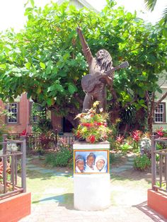 The Bob Marley Museum. Was once Marley's home, at 96 Old Hope Road. Kingston, JAMAICA.