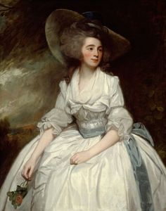 1785-1787 Mrs. Francis Russell, Mary Bannerman ?, by George Romney (Art Institute of Chicago - Chicago, Illinois, USA) | Grand Ladies | gogm