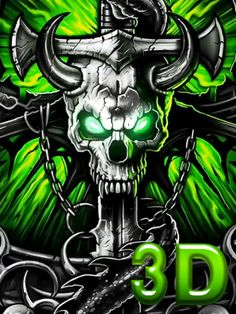 Gothic Metal Graffiti Skull Theme has the green metal gothic graffiti skull with metallic neon horror dragon wallpaper dark icon and for the Android phone. Skull Wallpaper Iphone, Lion Wallpaper, Galaxy Wallpaper, Arte Assassins Creed, Ghost Rider Wallpaper, Grim Reaper Art, Motion Images, Tattoo Ideas, Dope Wallpapers