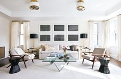 Room Rugs, Rugs In Living Room, Living Spaces, Living Area, Living Room Rug Placement, Famous Interior Designers, Celebrity Houses, Table, Home And Family