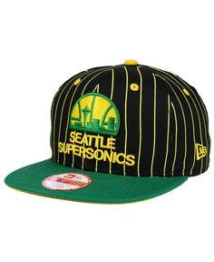 df1a1b5aaa6 New Era Seattle SuperSonics Vintage Pinstripe 9FIFTY Snapback Cap   Reviews  - Sports Fan Shop By Lids - Men - Macy s