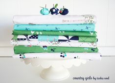 Country Girls collection - green and white
