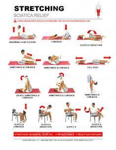 Sciatic Nerve Exercises, Sciatic Nerve Relief, Lower Back Pain Exercises, Sciatica Stretches, Sciatic Pain, Hip Pain, Plantar Fasciitis Exercises, Yoga For Sciatica, Hip Stretches