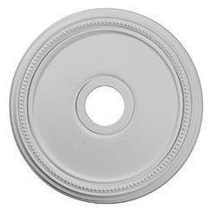 "Ekena Millwork CM18DI 18"" Wide Diane Ceiling Medallion White Accessory Ceiling Medallions Ceiling Medallions"