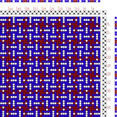 Hand Weaving Draft: Figure 109, A Manual of Weave Construction, Ivo Kastanek, 2S, 2T - Handweaving.net Hand Weaving and Draft Archive