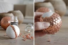 Handmade Home Decor For Your Own Personal Touch – DecorativeAllure Diy Home Crafts, Diy Arts And Crafts, Decor Crafts, Handmade Home Decor, Handmade Decorations, Diy Home Decor, Decoracion Navidad Diy, Diy Adornos, Christmas Crafts