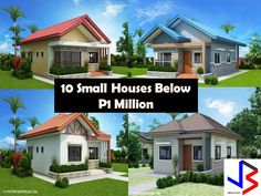 Here are 10 small house design with photos and floor plan for your budget million and below. These house plans are suited for small Filipino families with two or three bedrooms. Find some inspirati Simple Bungalow House Designs, Modern Small House Design, Modern Bungalow House, Simple House Design, Modern Houses, Small Houses, Bungalow Floor Plans, Modern House Floor Plans, Simple House Plans