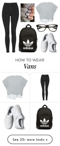 """Untitled #893"" by erikabousook on Polyvore featuring 10 Crosby Derek Lam, Topshop, Vans, adidas Originals, women's clothing, women's fashion, women, female, woman and misses"
