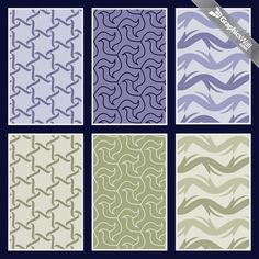 Free Seamless Vector Patterns - Set 01