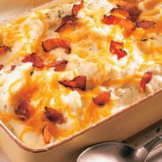 Loaded Mashed Potato Casserole, I will make this for Christmas dinner.