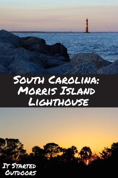 The Morris Island Lighthouse is a commonly photographed subject located just outside of Charleston, South Carolina. Being completely cut off from land, you cannot get to the lighthouse by foot. You can, however, get a fantastic view from a secluded beach not far from Folly Beach. Just a short walk right before sunset and you will be rewarded with a scene straight out of a romantic movie. | Charleston, South Carolina | Vacation | Trip Itinerary | Visit South Carolina | Travel| It Started…