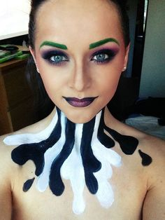 Pretty Beetlejuice Makeup #halloween #makeup #makeuptutorial