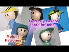 Gorras y cascos para fofuchas en foami goma eva para ingeniero chavo del ocho policia deportista y + - YouTube