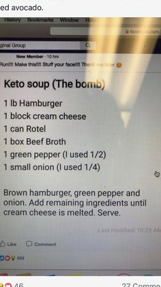 carb recipes - Creamy Burger Soup Low carb, keto, LCHF, Diabetic dinner soup beef Easy Keto Friendly Lunch Recipes keto recipes low carb recipes Keto diet KetoCookignClub com 6 Mouth Watering Low Carb Lunch Ideas keto recipes low carb recipes Keto diet Ke Ketogenic Recipes, Diet Recipes, Lunch Recipes, Recipies, Keto Foods, Low Carb Soup Recipes, Keto Meal, Recipes Dinner, Diabetic Recipes