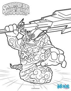 skylanders coloring pages spitfire fargo - photo#9