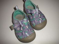 Keen Size 4 Toddlers Velcro Straps Lavender Pattern Girls Athletiic Sandals…