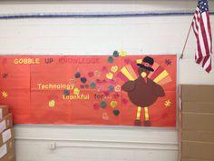 Turkey thanksgiving technology bulletin board