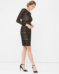 White House | Black Market Lace Sheath Dress