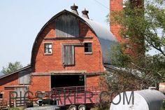 brick barn, Adair, Okla. ~ this barn has a face, it looks surprised