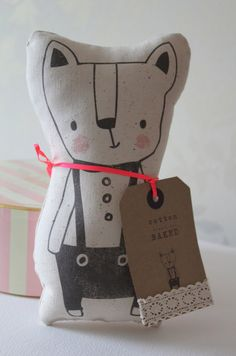 Cotton Baked | bear plush #softie #doll #toy Idea: illustrate your own book then make a doll or  softie from one of the illustrations...and give both as the gift.