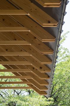 of Archery Hall & Boxing Club / FT Architects - 8 Timber Structure: Archery Hall & Boxing Club / FT ArchitectsTimber Structure: Archery Hall & Boxing Club / FT Architects Detail Architecture, Timber Architecture, Into The Woods, House In The Woods, Roof Design, House Design, Patio Design, Timber Structure, Roof Detail