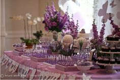 decoracao cha de bebe lilas