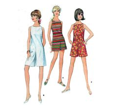 Culotte Dress 60s Sewing Pattern Pantdress in Mini by HoneymoonBus