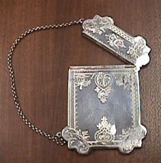 Victorian Calling Card Cases   Victorian Sterling Calling Card Case Ornate Design