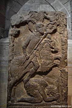 Flavinus's tombstone from Corbridge, now in Hexham Abbey.