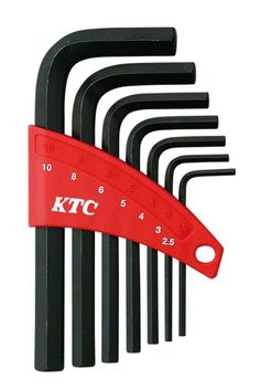 KTC / STANDARD HEX WRENCH SET 7 PIECES (2.5 - 10mm) / HL107  #KTC