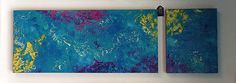 Colorful Two Piece Abstract Painting, Contemporary Art, Modern Art, Handmade