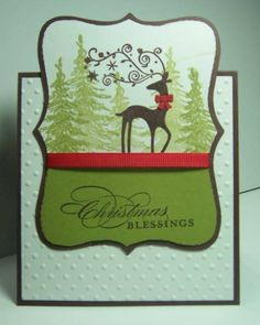 IC363 Dasher with bow by jandjccc - Cards and Paper Crafts at Splitcoaststampers
