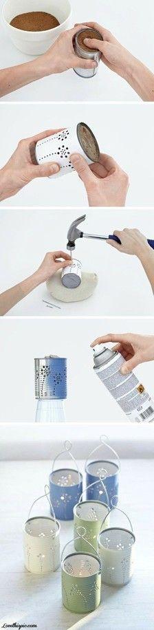 DIY Lanternes bougeoirs