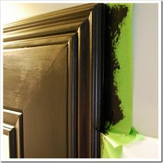 Great tip for making a framed mirror look more finished.  SweetPickinsFurniture.com is a terrific blog.