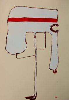 red  blind  and furios  mixed media on paper cm 70 x 50 2013 www.marcoantonio.it