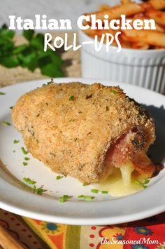 Like an Italian version of Chicken Cordon Bleu, these Italian Chicken Roll-Ups are a true crowd pleaser!