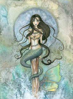 beautiful mermaid artwork -  wish I knew the artist