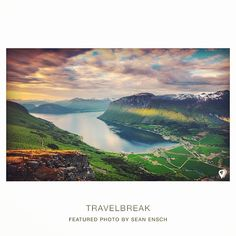Thank you Sean Ensch Images for gracing us with this majestic view or Innfjorden, Norway. Travel | Wanderlust | TravelBreak.net