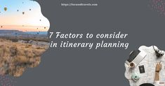Many people tend not to do itinerary planning or don't do it well enough to be helpful. However, while considering the steps for creating a DIY travel itinerary, there are factors to consider in itinerary planning. There are several factors you need to consider when doing itinerary planning include using travel research in your itinerary ... Read more The post Factors To Consider In Itinerary Planning appeared first on Focused Travels.