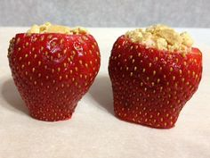 Yay for healthy!! Yogurt and Graham Cracker Strawberries - perfect for a healthy Valentine's Day for kids!