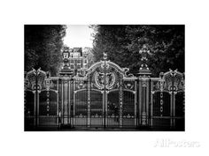 Gate at Buckingham Palace - Green Park - London - UK - England - United Kingdom - Europe Photographic Print by Philippe Hugonnard at AllPosters.com