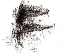 "drawingarchitecture: "" City of Wires by Ksymena Borczynska """