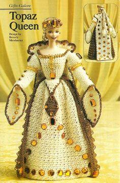 Y013 Crochet PATTERN ONLY Fashion Doll Barbie by BeadedBundles, $4.95