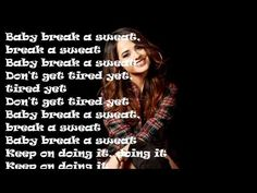 Becky G Break A Sweat (Lyrics)