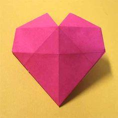 折り紙で立体的なハートの折り方!簡単バレンタイン飾りの作り方 | セツの折り紙処