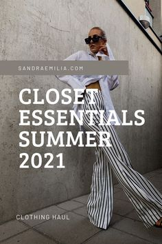 Closet essentials summer 2021- Scandinavian style- Minimalistic style, summer outfit ideas, trendy fashion 2021, closet must haves, wardrobe must haves, striped suit, blue and white, linen shirt, Fashion Videos, Fashion Tips, Clothing Haul, Closet Essentials, Scandinavian Style, Trendy Fashion, Must Haves, Personal Style, Summer Outfits