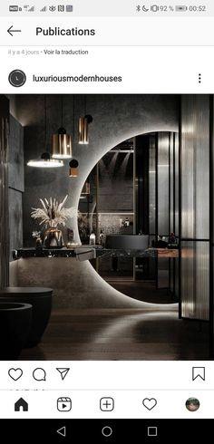 Black Bedroom Design, Bathroom Design Luxury, Home Room Design, Interior Design Living Room, Toilet Design, Luxurious Bedrooms, Bathroom Inspiration, Architecture Design, Vanity Lighting