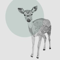 mint dotted bambi #society6