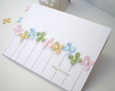 Birthday. Blush Crafts: Less is More with punches...